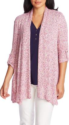 Chaus Wide Ribbed Open Front Cardigan