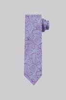 Moss Esq. Purple & Sky Paisley Silk Tie