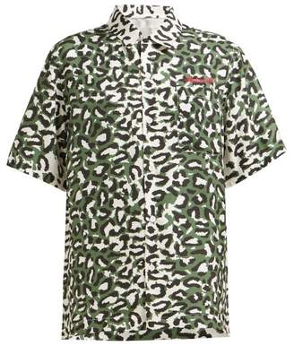 MHI Leopard-print Silk Shirt - Womens - Leopard