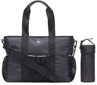 Emporio Armani Kids Changing bag and mat set