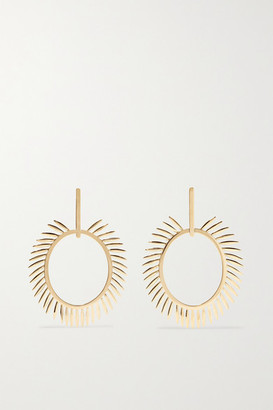 Ileana Makri Grass Sunny 18-karat Gold Earrings