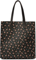 Givenchy Black & Pink Hibiscus Tote