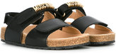 Moschino Kids - logo open toe sandals - kids - Leather/rubber - 34