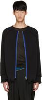Haider Ackermann Black Ribbed Zip-up Sweater