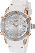 Elini Barokas Women's ELINI-20005D-RG-02-WHT-SB Spirit Analog Display Swiss Quartz Watch