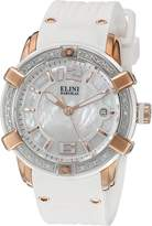Elini Barokas Women's ELINI-20005D-RG-02-WHT-SB Spirit Analog Display Swiss Quartz White Watch