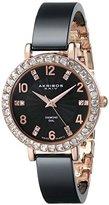 Akribos XXIV Women's AK758RGB Black Ceramic Bangle Watch