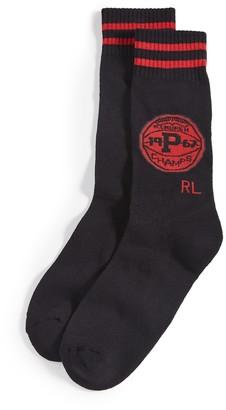 Polo Ralph Lauren Mismatch Collegiate Tiger Crew Socks