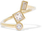 Elizabeth and James Roni Gold-Tone Crystal Ring