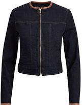 Ralph Lauren Leather-Trim Trucker Jacket