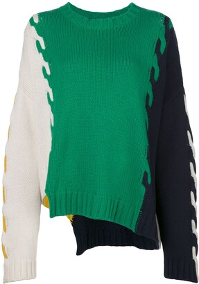 Monse colour block oversized jumper