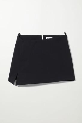 Weekday Sia Skew Mini Skirt - Black