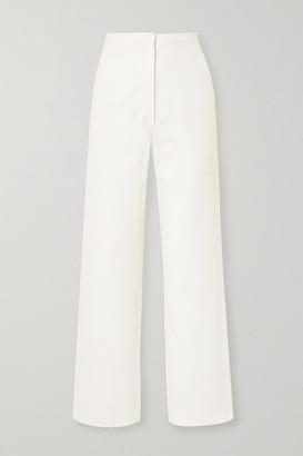 LVIR Cotton-canvas Wide-leg Pants - Ivory
