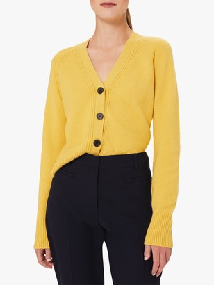 Hobbs Chloe V-Neck Cardigan, Corn Yellow