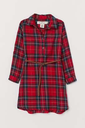 H&M Cotton Shirt Dress - Red
