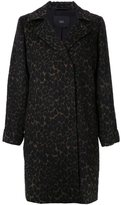 Steffen Schraut animal print coat - women - Polyester/Wool/other fibers - 38