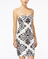 B. Darlin Juniors' Printed Strapless Sheath Dress