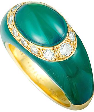 Van Cleef & Arpels Heritage  18K 0.30 Ct. Tw. Diamond & Chrysoprase Ring