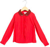 Little Marc Jacobs Girls' Pleated Button-Up Top