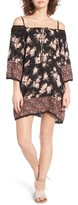 Angie Women's Floral Print Off The Shoulder Dress