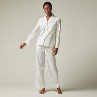 Love & Lore Love And Lore Polka Dot Poplin Pajama Set Whisper White Small