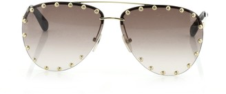 Louis Vuitton The Party Aviator Sunglasses Studded Metal
