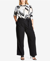 City Chic Trendy Plus Size Belted Pants