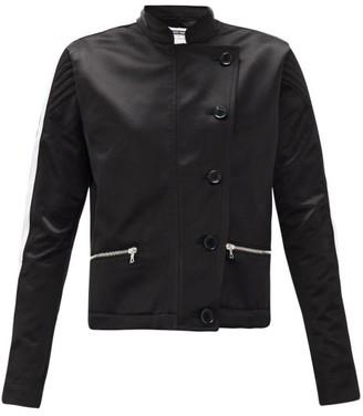 Bolt X Edie - Scramble Side-stripe Upcycled Cotton-satin Jacket - Black