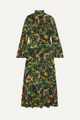BRIGITTE Dodo Bar Or X Annabel's Dodo Bar Or x Annabel's Printed Stretch-jersey Turtleneck Midi Dress - Black