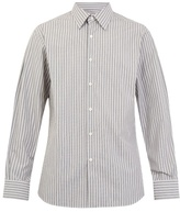 Prada Single-cuff Striped Cotton Shirt