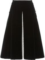 macgraw Black Velvet A-Line Stately Skirt