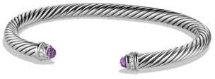 David Yurman Cable Classics Bracelet With Amethyst And Diamonds, 5Mm