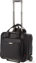 Samsonite Pro-DLX 4 two-wheel leather rolling tote