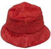 Reinhard Plank Hats - Coated-velvet Hat - Womens - Red
