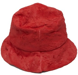 Reinhard Plank Hats - Coated-velvet Hat - Womens - Red
