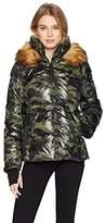 S13 Women's Kylie Faux Fur Trim Puffer Jacket