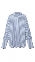 Tibi Garcon Striped Shirt with Wide Cuff