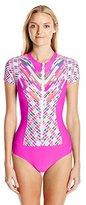 Next Women's Go with The Flow Malibu Zip One Piece Swimsuit with Upf 50