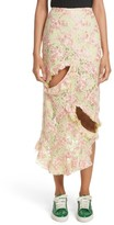 Marques Almeida Women's Marques'Almeida Cutout Lace Midi Skirt