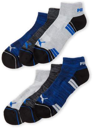 Puma 6-Pack Sport Style Quarter Crew Socks