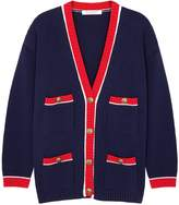 Philosophy di Lorenzo Serafini Navy knitted cotton cardigan