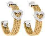 Charriol Classique Diamond Heart Earrings