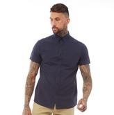 Fluid Mens Short Sleeve Oxford Shirt Navy