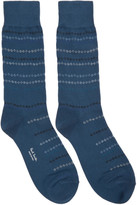 Paul Smith Navy Chain Stripe Socks