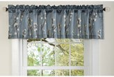 Lush Decor 18-Inch by 84-Inch Cocoa Flower Valance, Blue