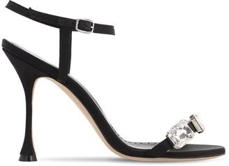 Manolo Blahnik 105mm Nafud Satin Sandals