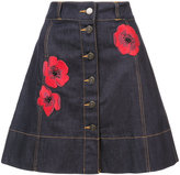 Kate Spade floral embroidered skirt
