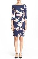 Erdem Reese Floral Print Jersey Sheath Dress