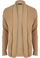 River Island MensLight brown textured knitted cardigan