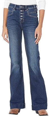 Rock and Roll Cowgirl High-Rise Trousers with Full Button Clouser in Dark Vintage W8H6092 (Dark Vintage) Women's Jeans